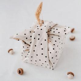 Eulenschnitt - Geschenkpapier aus Stoff - im 2er Set