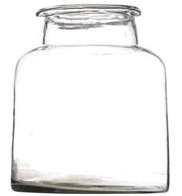 Madam Stoltz - hohe Glas Vase klein - 16,5x20