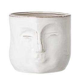 Bloomingville - Flowerpot Gesicht - Weiß