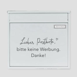 """Eulenschnitt - Briefkasten Sticker """"Bitte keine Werbung"""""""