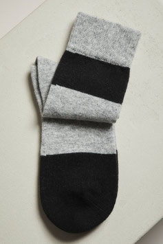 Lanius - Bio Socken Colourblock GOTS - Black/Grey