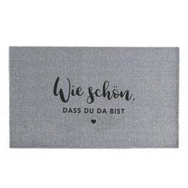 """Eulenschnitt - Waschbare Fußmatte """"Wie Schön"""" - 67 x 120 cm"""