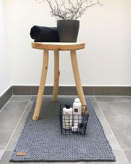 VNF handmade - Badvorleger - hellgrau