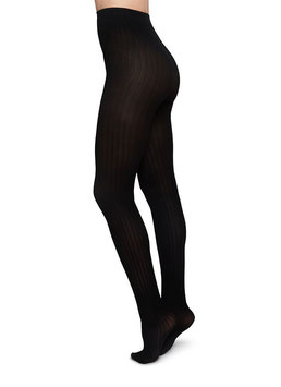 Swedish Stockings - Alma Pantyhose Rib - Black
