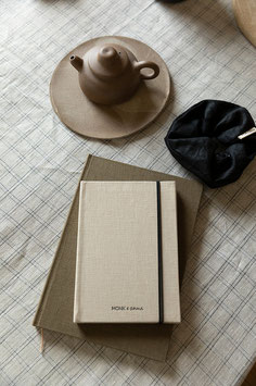 Monk & Anna - Notebook S Linen - Sea Shell