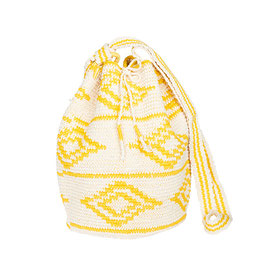 Marysal - HIPPIE BUCKET BAG - Yellow