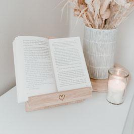 Eulenschnitt - Buchständer mit Herz