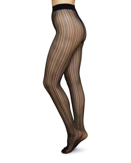Swedish Stockings - Selma Pantyhose Net - Black