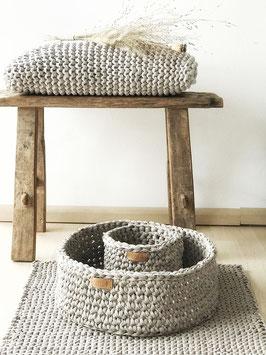 vnf handmade - Korb Recycling in drei Größen - Natur