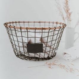 Eulenschnitt - Korb aus Draht Groß - 25cm