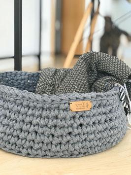 vnf handmade - Korb Recycling in drei Größen - Anthrazit