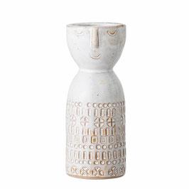 Bloomingville - kleine Vase India mit Gesicht - Weiß