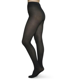 Swedish Stockings - Agnes Houndstooth Tights - Black/Grey