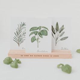 """Eulenschnitt - Großer Postkartenständer """"Die kleinen Dinge"""" - 25cm"""