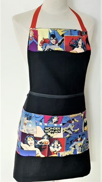 Tablier de cuisine noir Wonder Woman