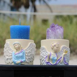 Duo-Base para vela ángeles y Amatista
