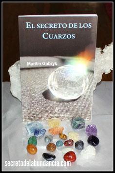 """Libro """"El Secreto de los Cuarzos"""" con 20 Cuarzos Naturales"""