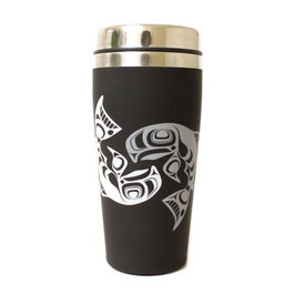 "Travel mug ""Salmon"""