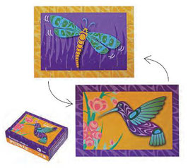 "Mini puzzel ""Hummingbird & Dragonfly"""