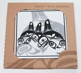 """Tegel - onderzetter """"Many Whales"""""""