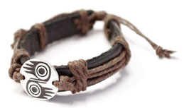 "Leren armband ""Together"""