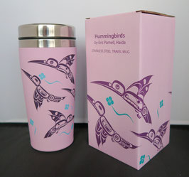 "Travel mug ""Hummingbirds"""