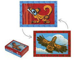 "Mini puzzel ""Eagle & Wolf"""