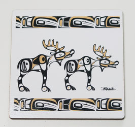 "Onderzetters (4) ""Native Moose"""