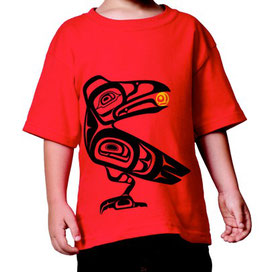 "Kinder T-shirt ""Raven the Trickster"""