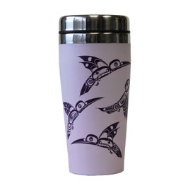 "Travel mug ""Hummingbirds"""