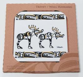 """Tegel - onderzetter """"Native Moose"""""""