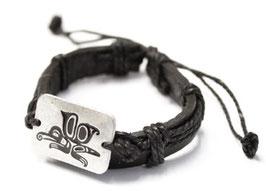 """Leren armband """"Butterfly"""""""