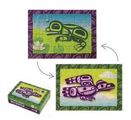 "Mini puzzel ""Raven & Frog"""