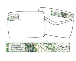 WrapAround Etiketten -Blütenbaum-