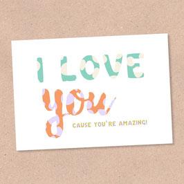 Postkarte -Love U-