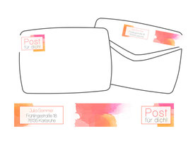 WrapAround Etiketten -Watercolor-