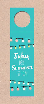 Flaschenanhänger -Juhu Sommer-