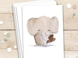 """Karten """"Elefant mit Herz"""""""
