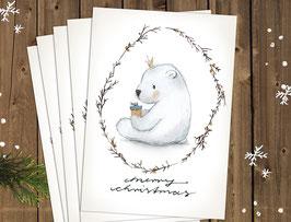 """Weihnachtskarten """"Eisbär"""""""