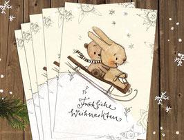 """Weihnachtskarten """"Schlitten"""""""