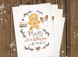 """Weihnachtskarten """"Lebkuchen"""""""