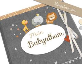 Mängelexemplar: Babyalbum mit champagnerfarbener Schleife