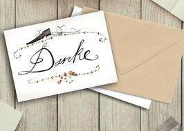 "Dankekarte Hochzeit ""Schuhe"""