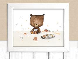 """Kinderbild """"Malen mit Teddy"""""""