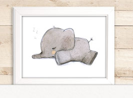 "Kinderbild ""Elefant schläft"""