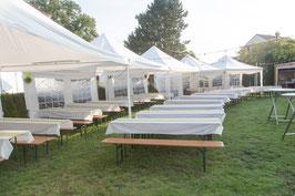 Pavillon weiß 4 x 4m