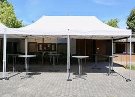 Faltpavillon beige 3 x 6m