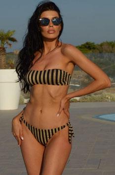 Bikini fascia lurex rigato