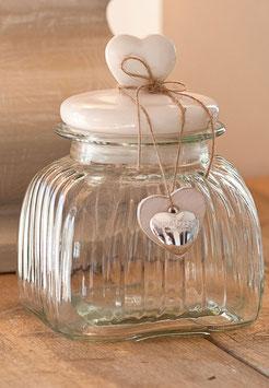 Barattolo in vetro con tappo in ceramica