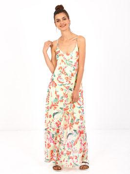 S2061433 Linaria Abito lungo con stampa floreale